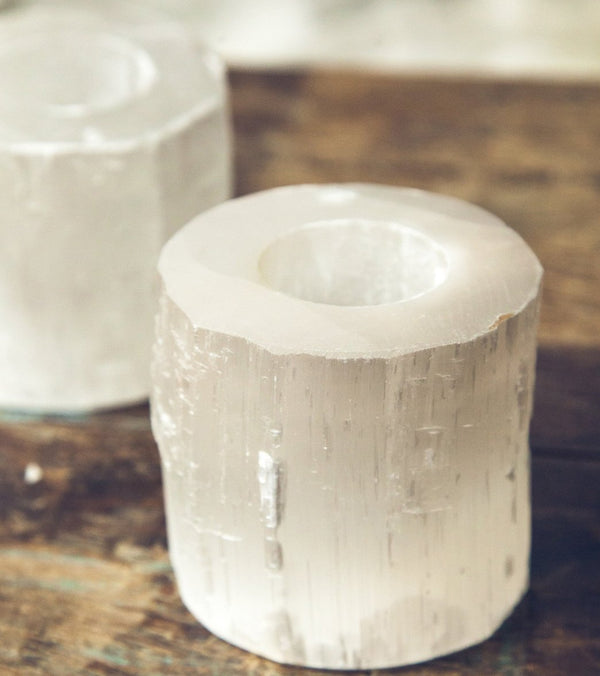SoulMakes Selenite Candle Holder