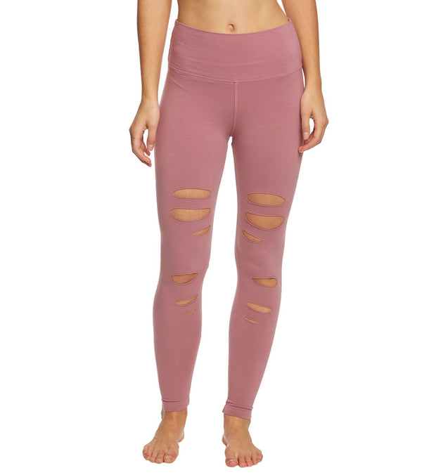 Hard Tail Flat Waist Laser Ankle Yoga Leggings