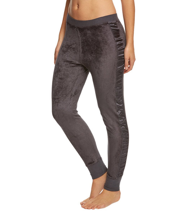 Hard Tail Velvet Skinny Side Shine Joggers
