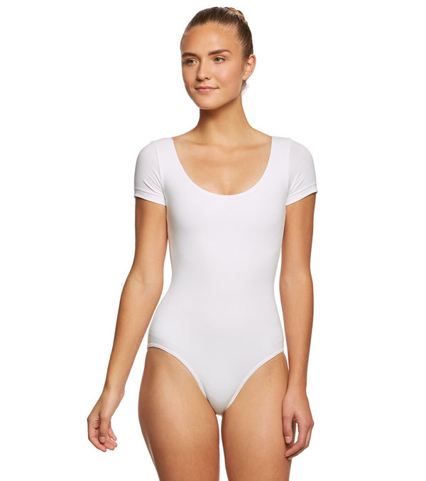 Bloch Cavalier Cotton Short Sleeve Yoga & Dance Leotard