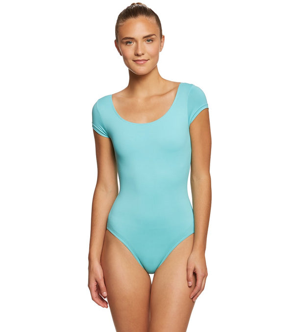 Bloch Betri Performance Short Sleeve Yoga & Dance Leotard