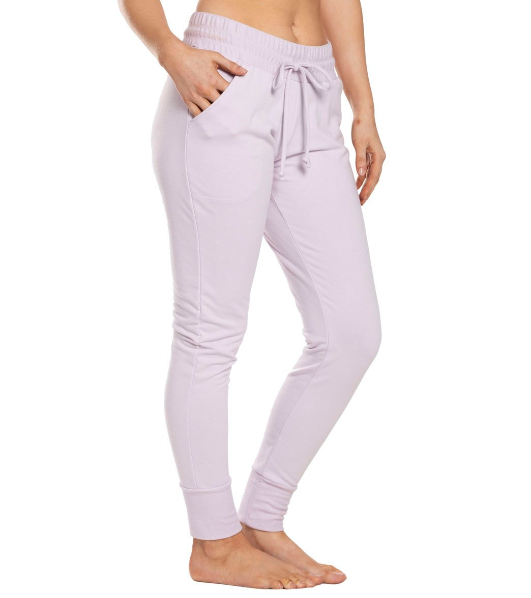 Free People Movement Sunny Skinny Sweat Pants - Lavender Cotton