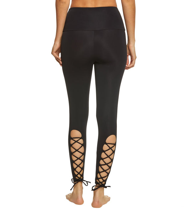 Onzie High Waisted Laced Up Yoga Leggings