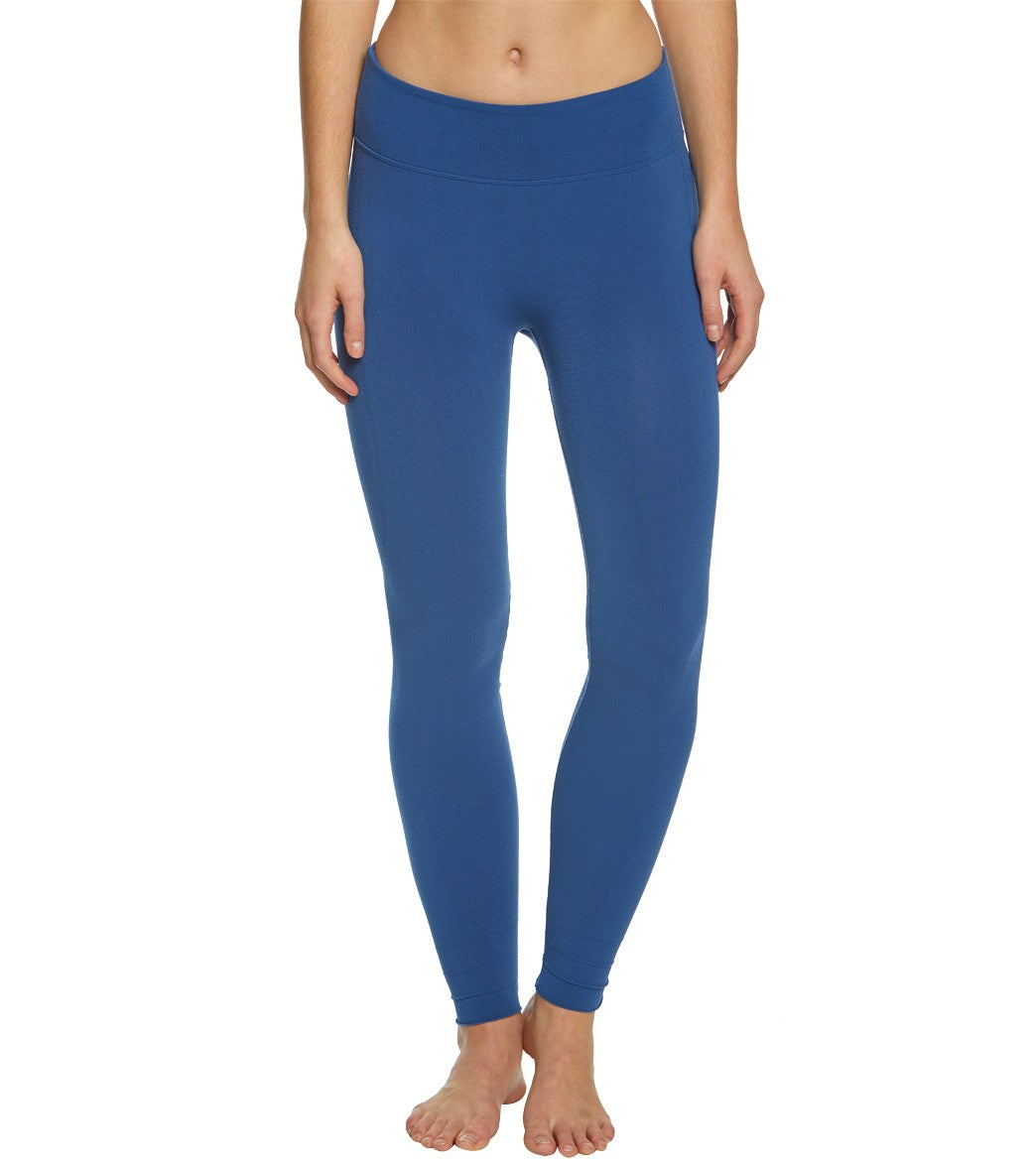 Free People Movement Sculpt Seamless Yoga Leggings - Blue Spandex
