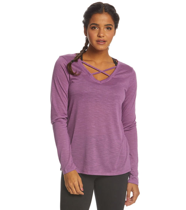 Balance Collection Long Sleeve Criss Cross Tee