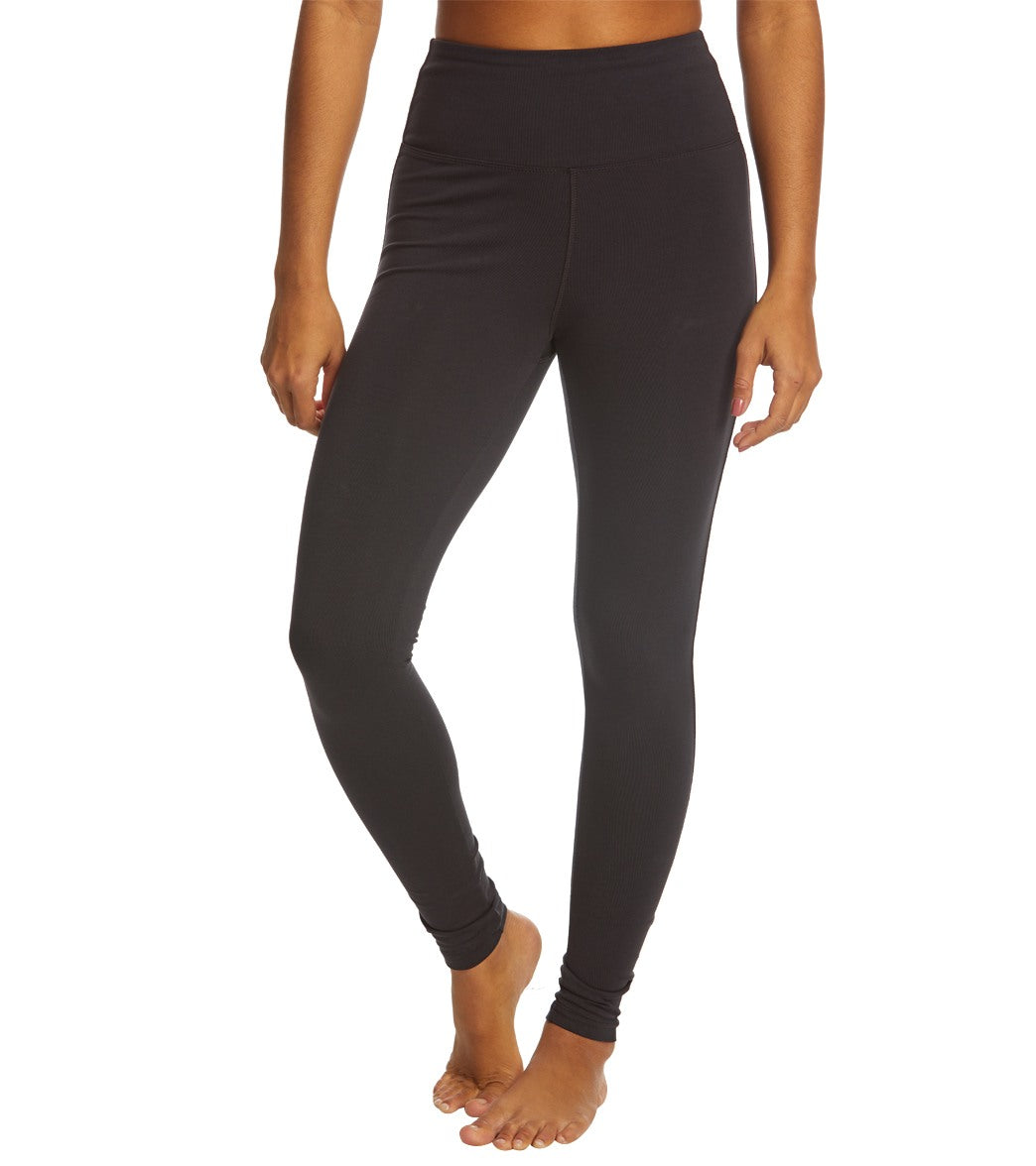 Feel confident and cool as you move and stretch in these Marika Olivia High Waisted Tummy Control Yoga Leggings. A powered mesh lined wide waistband holds the lower tummy in while structured seams enhance your silhouette so you can look great even through demanding workouts. Features Women\\\'s yoga leggings. 4\\\