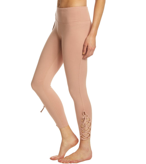 Betsey Johnson Performance Lace Up 7/8 Yoga Leggings