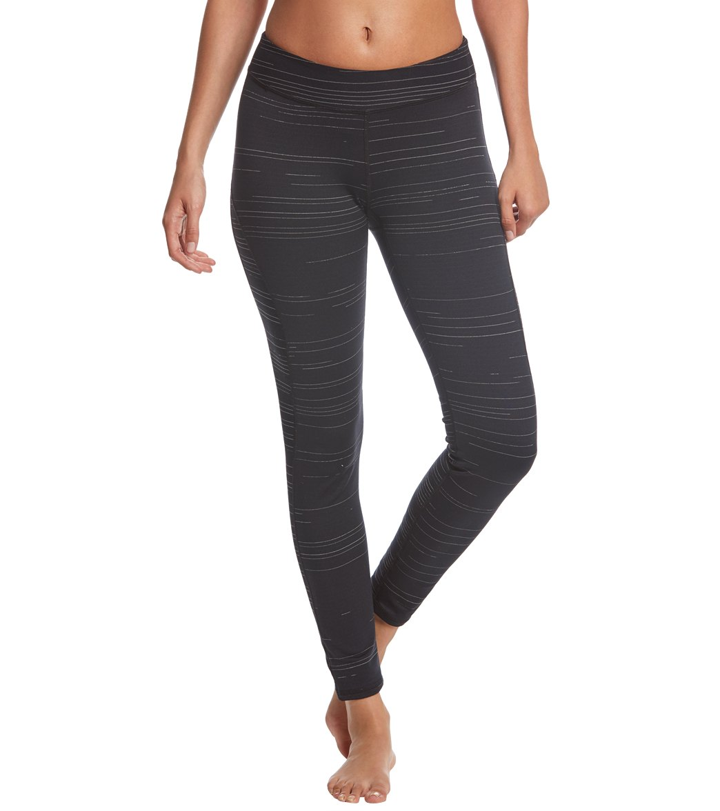 Head to the studio in a clean style with these Hard Tail Mid Rise Side Blocked Yoga Capris. These capris feature a clean, striped style and are also reversible for a two-for-one option you can\\\'t pass up! Features Women\\\'s full-length legging. Striped design. Moisture-wicking. Reversible. Details Fabric: 88% Polyester, 12% Spandex Color: Black Style Features: Striped, Reversible Fit: Tight Rise: Mid-rise Length: Ankle Adjustable: No Country of Origin Made in the USA. About Hard Tail: HardTail is a