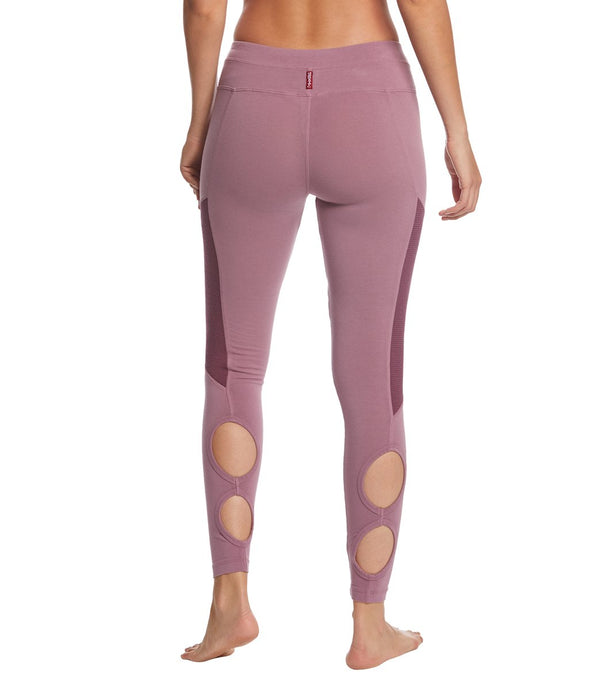 Hard Tail Low Rise Double Loop Cotton Yoga Leggings