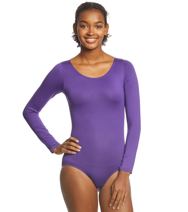 Danskin Scoopneck Long Sleeve Yoga & Dance Leotard