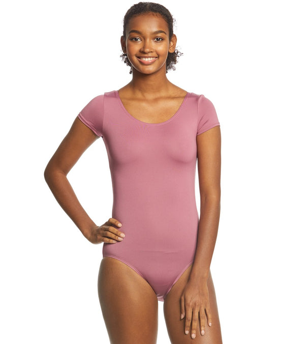 Danskin Scoopneck Short Sleeve Yoga & Dance Leotard