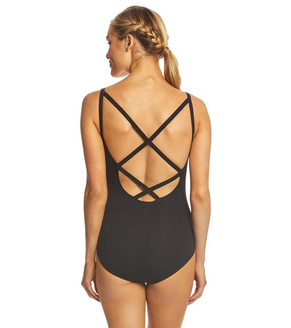 Danskin Cross Back Cami Yoga & Dance Leotard
