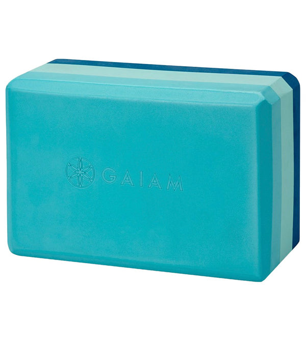 Gaiam Tri-Color Foam Yoga Block