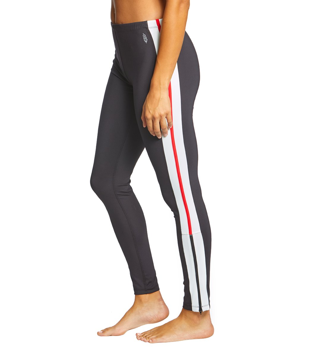 Free People Movement Dale's Track Yoga Leggings - Black Spandex