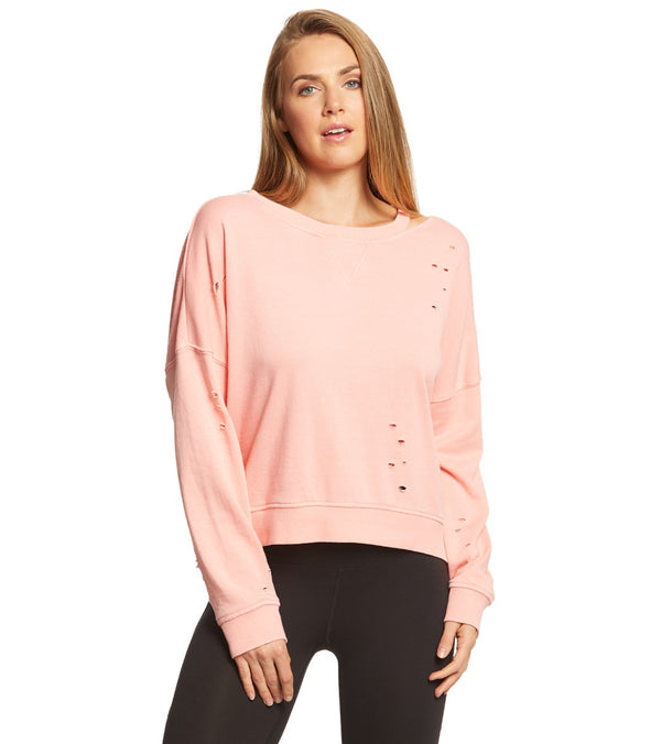 Betsey Johnson Performance Slit and Distressed Pullover