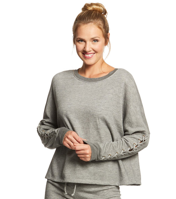 Beyond Yoga Lasso Tie Cropped Pullover