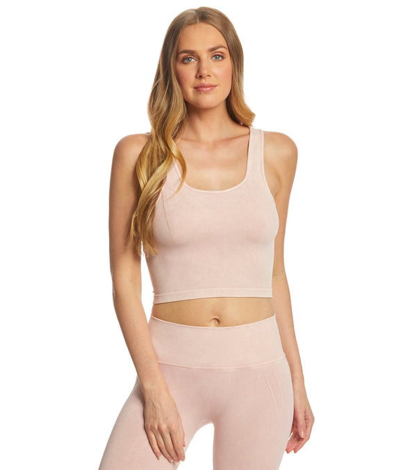 NUX Be Free Mineral Wash Seamless Yoga Crop Top
