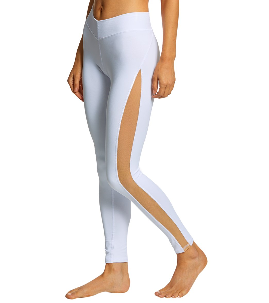 NUX Double Seamless Yoga Leggings - White Spandex