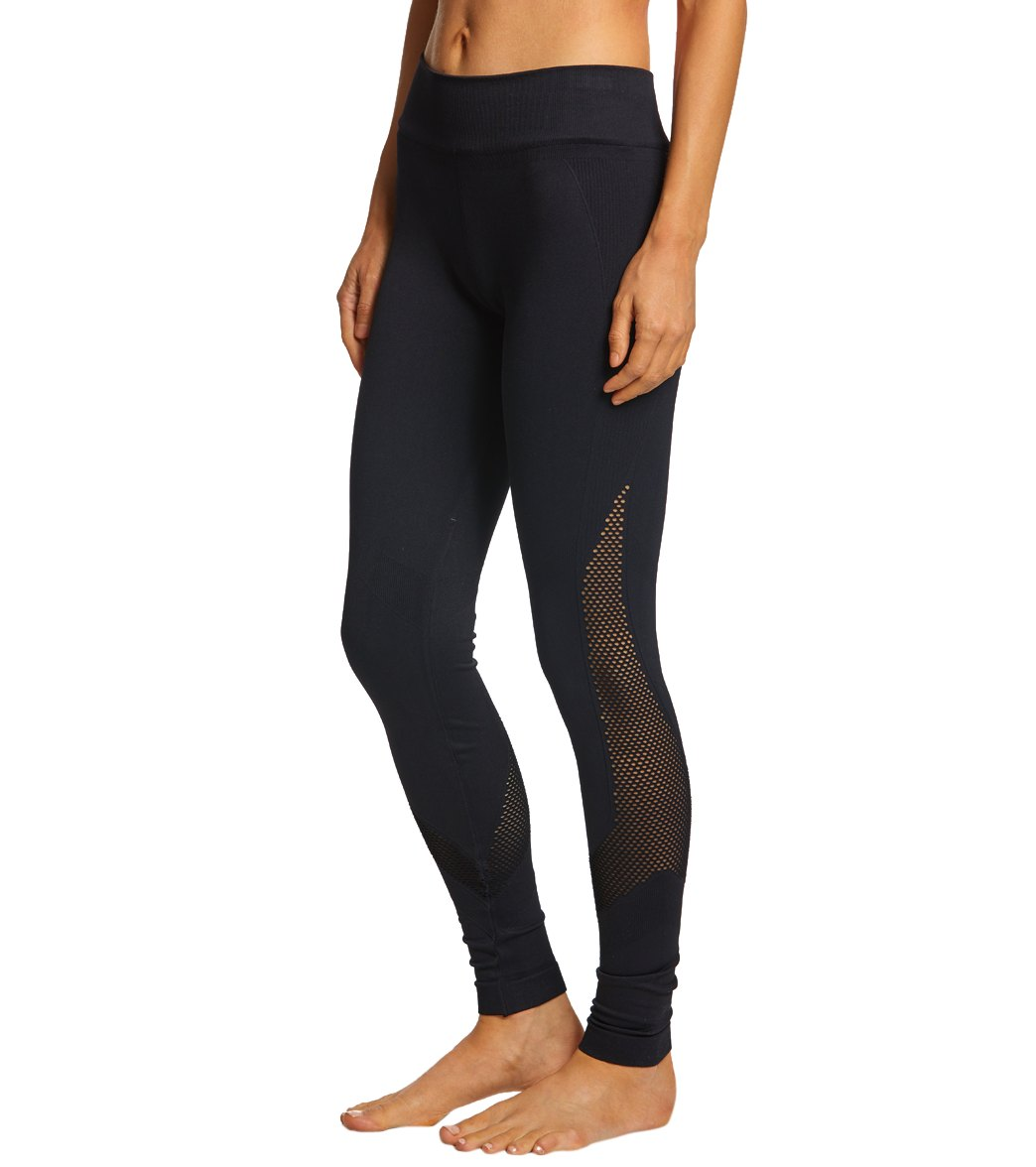 NUX Network Seamless Yoga Leggings - Black Spandex