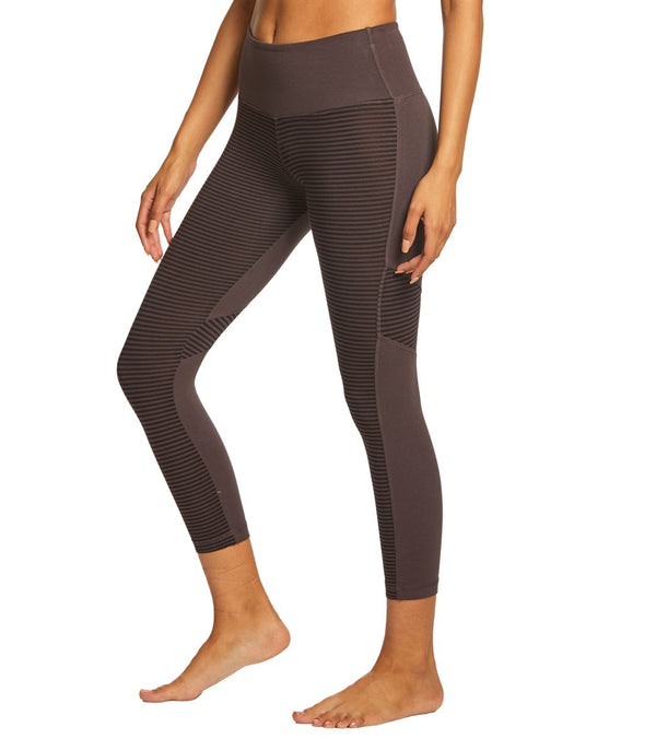 Hard Tail High Waist Tonal Back Capris