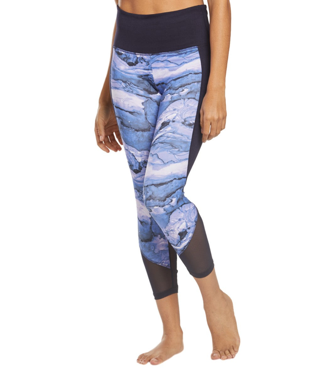 Balance Collection Nova High Rise Yoga Capri Pants - Silverlake Watercolor Cotton