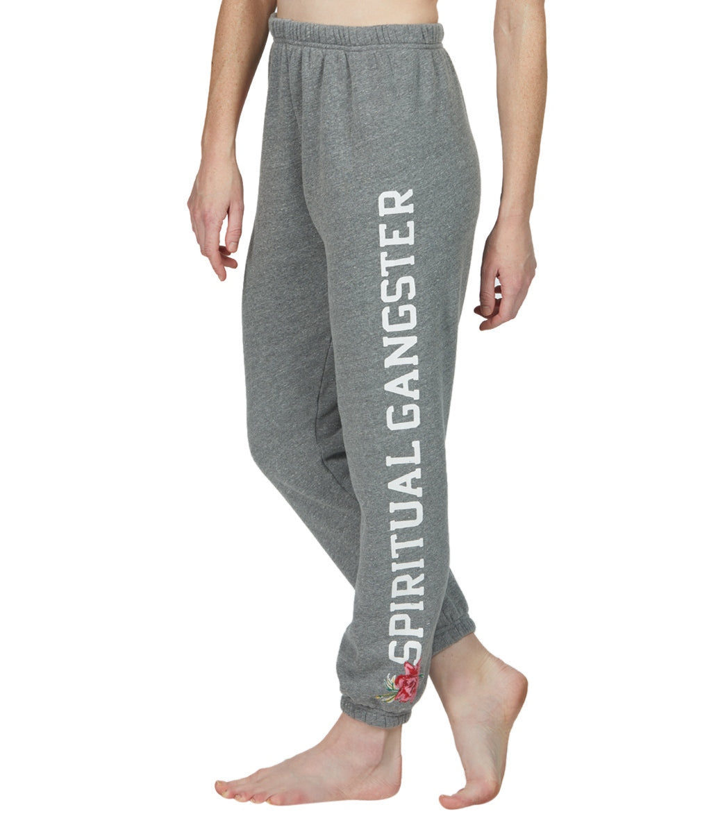 Spiritual Gangster SG Sessions Sweatpant Jogger Pants - Heather Grey Cotton