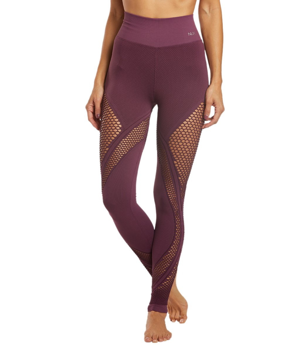 NUX All Net Seamless Yoga Leggings - Purple Nights Spandex