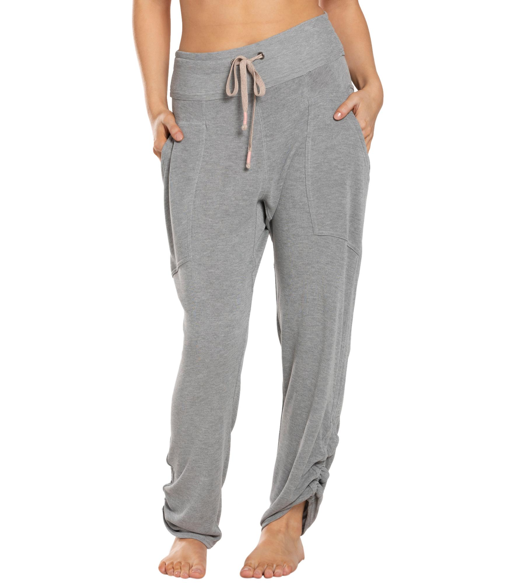 Free People Movement Ready Go Pants - Grey Combo Spandex