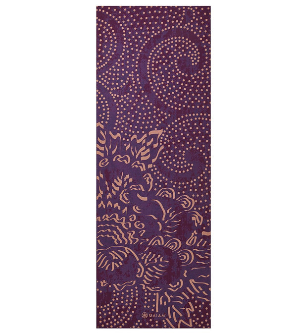 "Gaiam Mulberry Cluster Classic Yoga Mat 68"" 4mm"