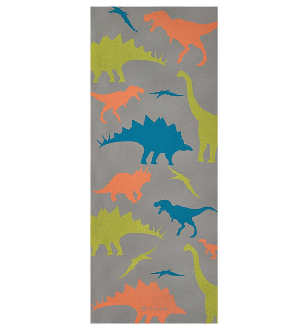 "Gaiam Dino Zone Kids Yoga Mat 60"" 4mm Thick"