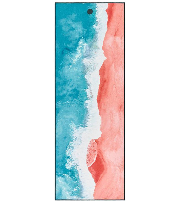 YogiToes Line Beach Skidless Yoga Mat Towel
