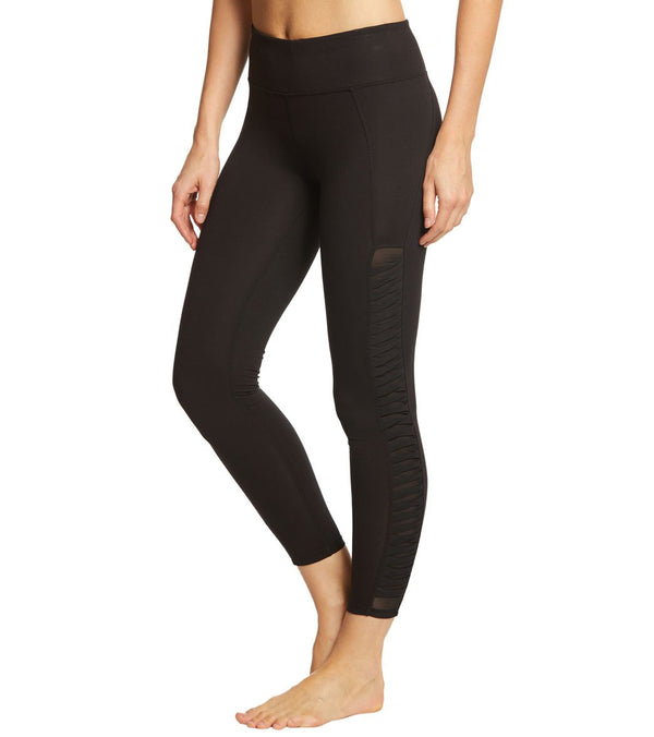 Betsey Johnson Performance Twisted Mesh 7/8 Yoga Leggings
