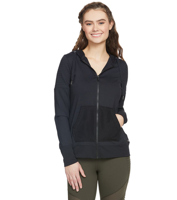 Betsey Johnson Performance Moto Detail Hoodie