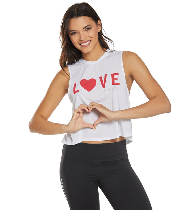 Spiritual Gangster Love Tech Crop Tank