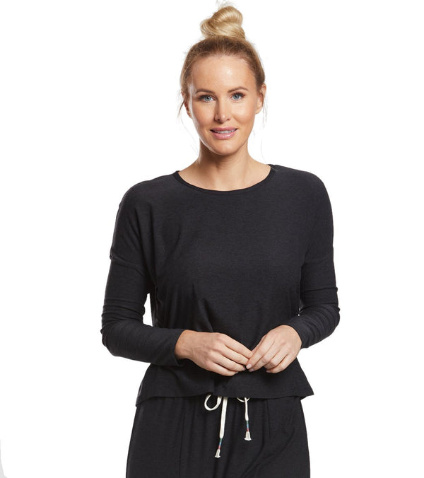 Beyond Yoga Featherweight Morning Light Cropped Pullover
