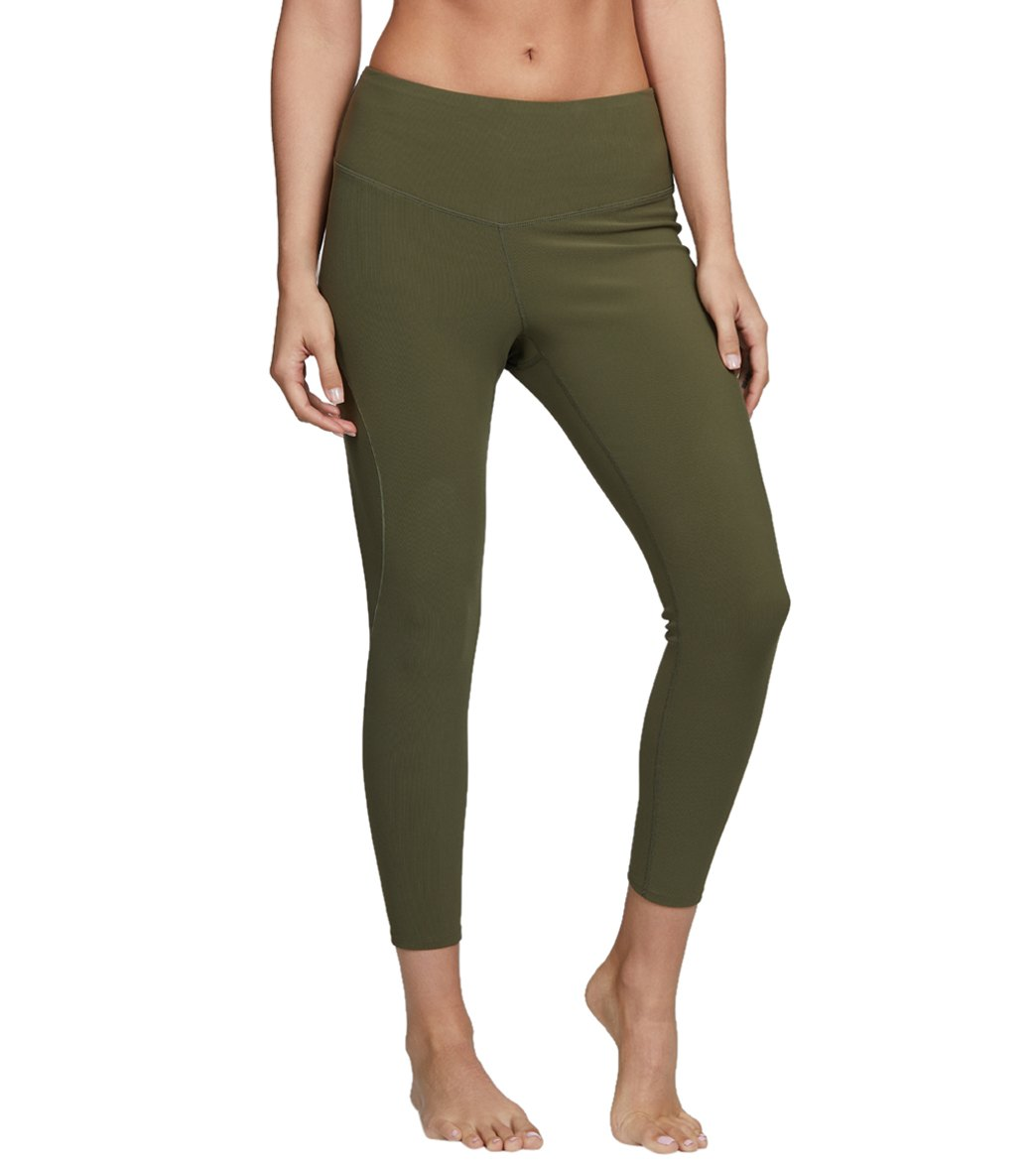 Free People High Waisted Formation Yoga Leggings - Army Spandex