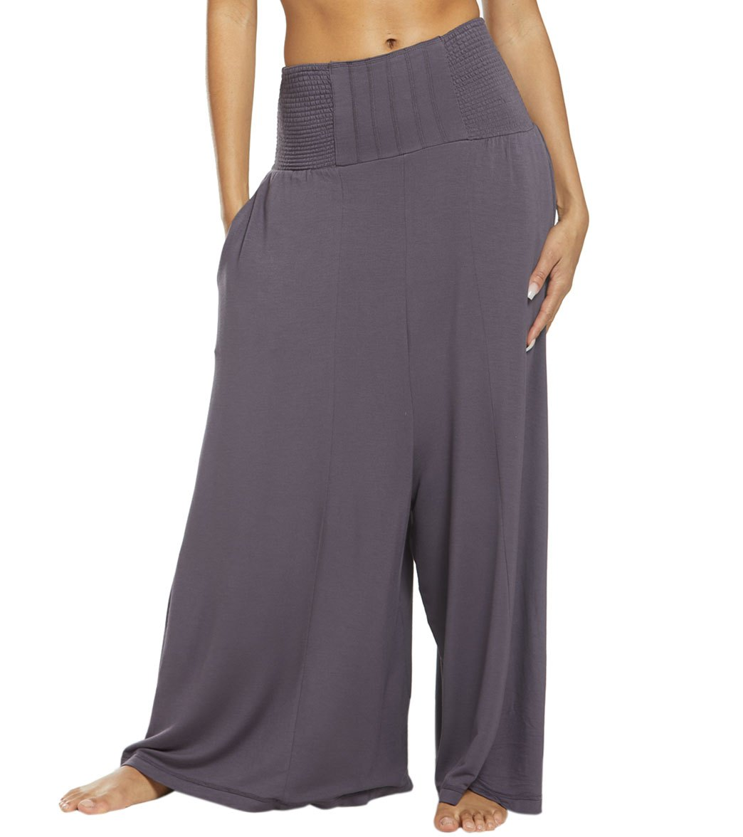 Free People Movement Going Places Convertible Pants - Graphite Spandex