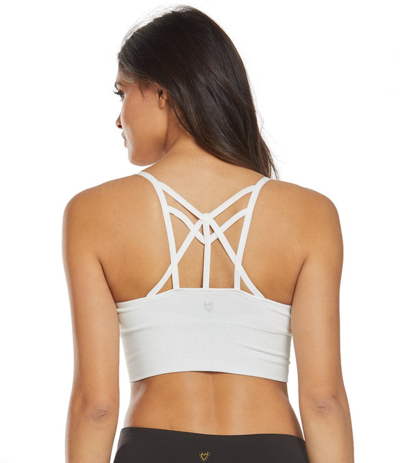 Betsey Johnson Performance Lurex Extended Seamless Yoga Sports Bra