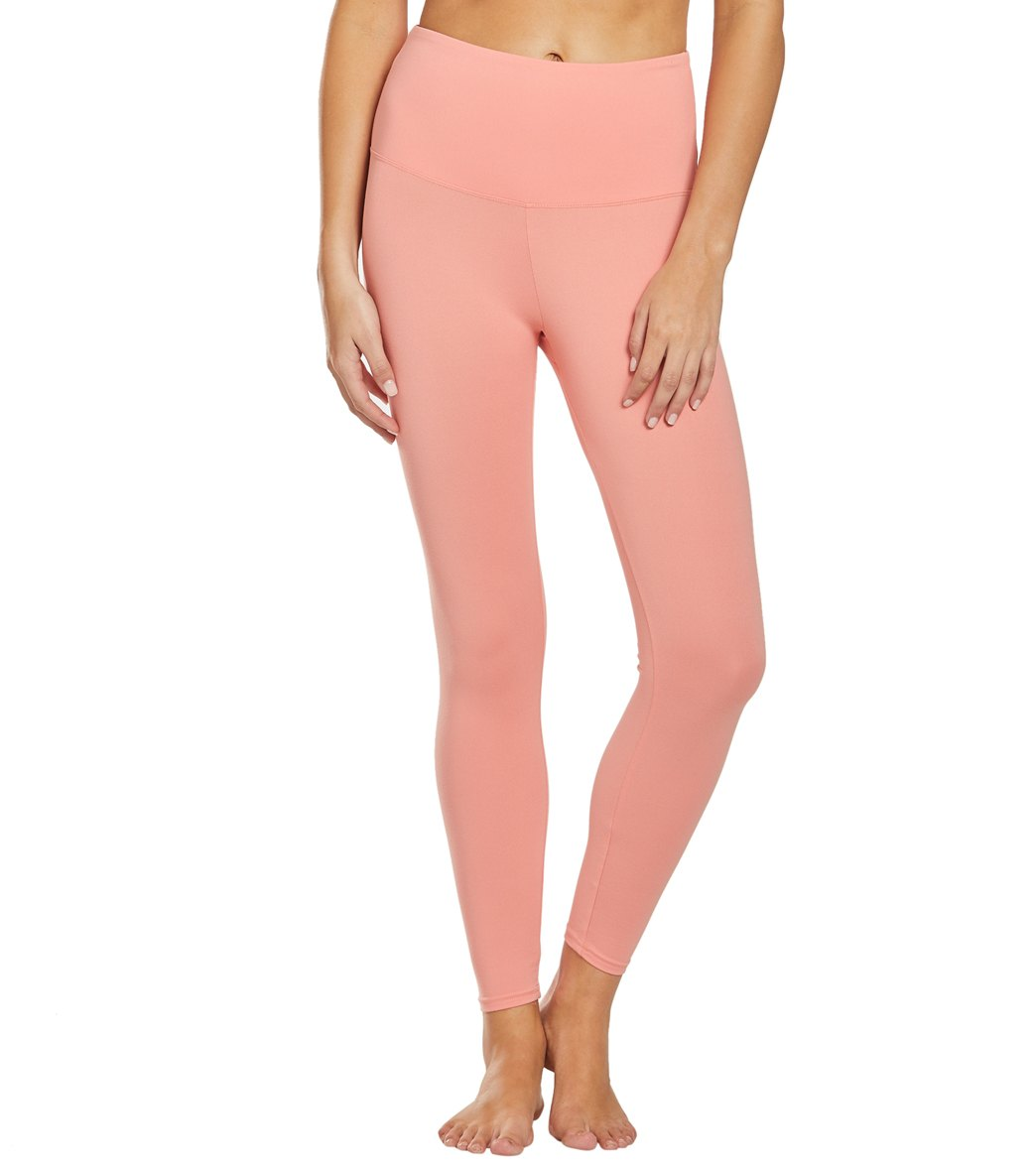 Balance Collection Ultra High Waisted Yoga Leggings - Burnt Coral Cotton