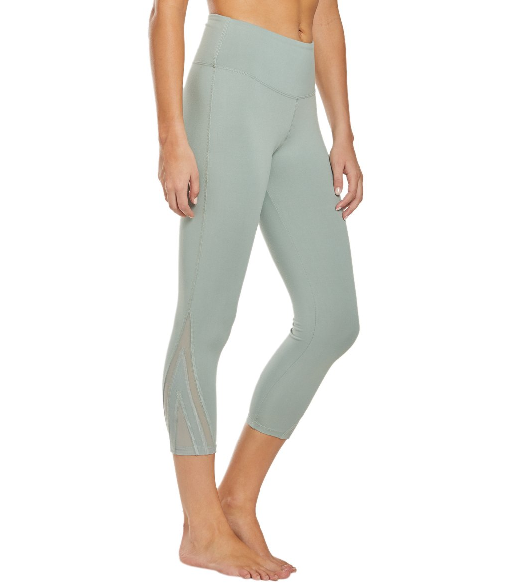 Balance Collection Amanda Yoga Capri Pants - Slate Grey Cotton