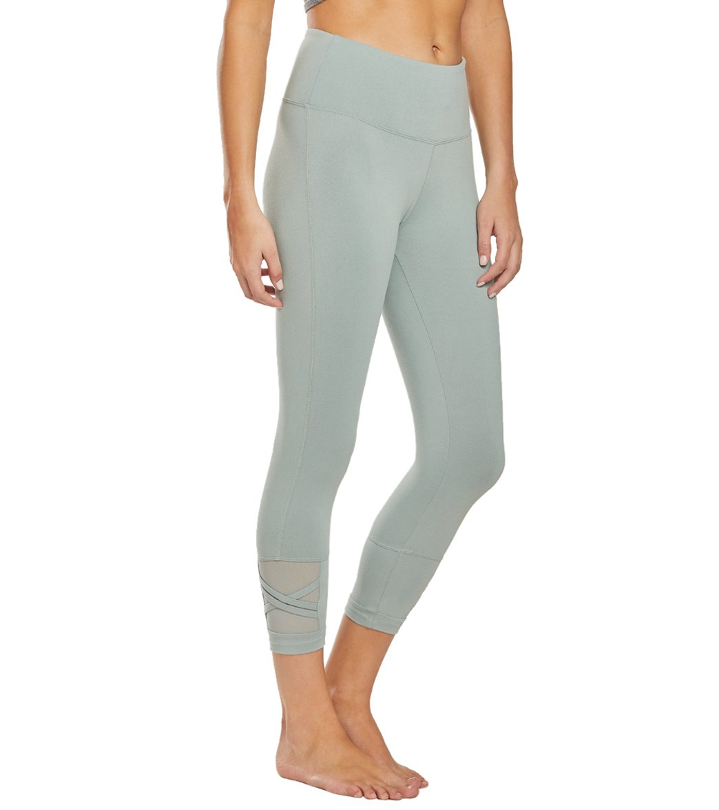 Balance Collection Ellie Yoga Capri Pants - Slate Grey Cotton
