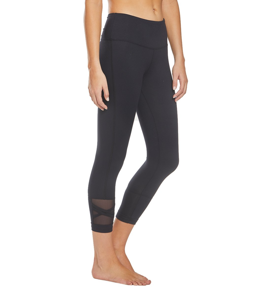 Balance Collection Ellie Yoga Capri Pants - Black Cotton