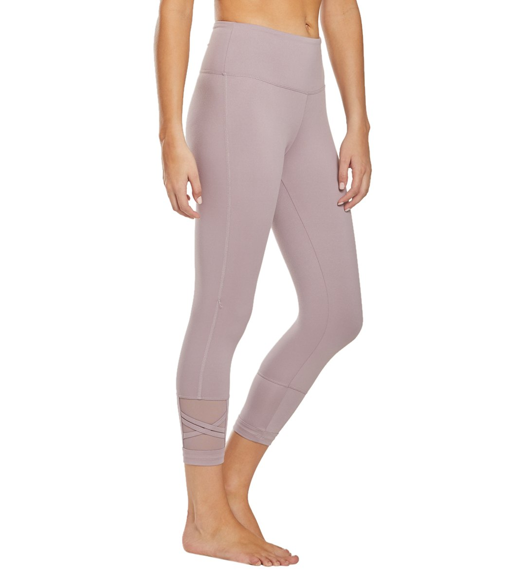 Balance Collection Ellie Yoga Capri Pants - Quail Cotton