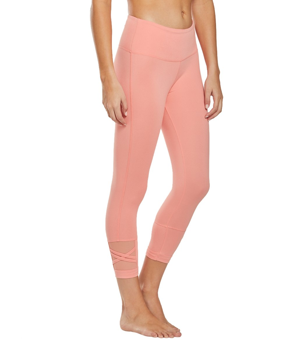 Balance Collection Ellie Yoga Capri Pants - Burnt Coral Cotton