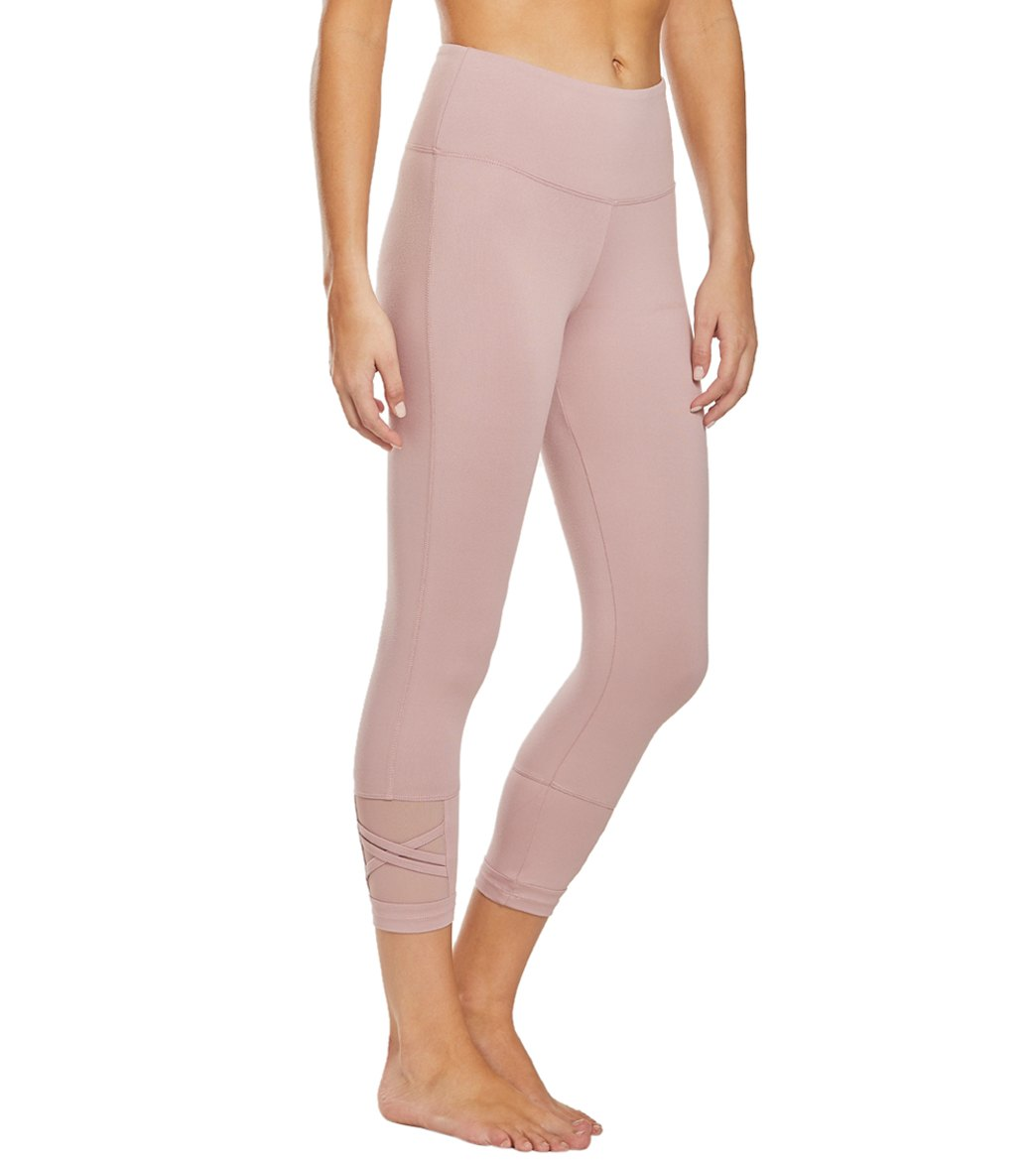 Balance Collection Ellie Yoga Capri Pants - Woodrose Cotton