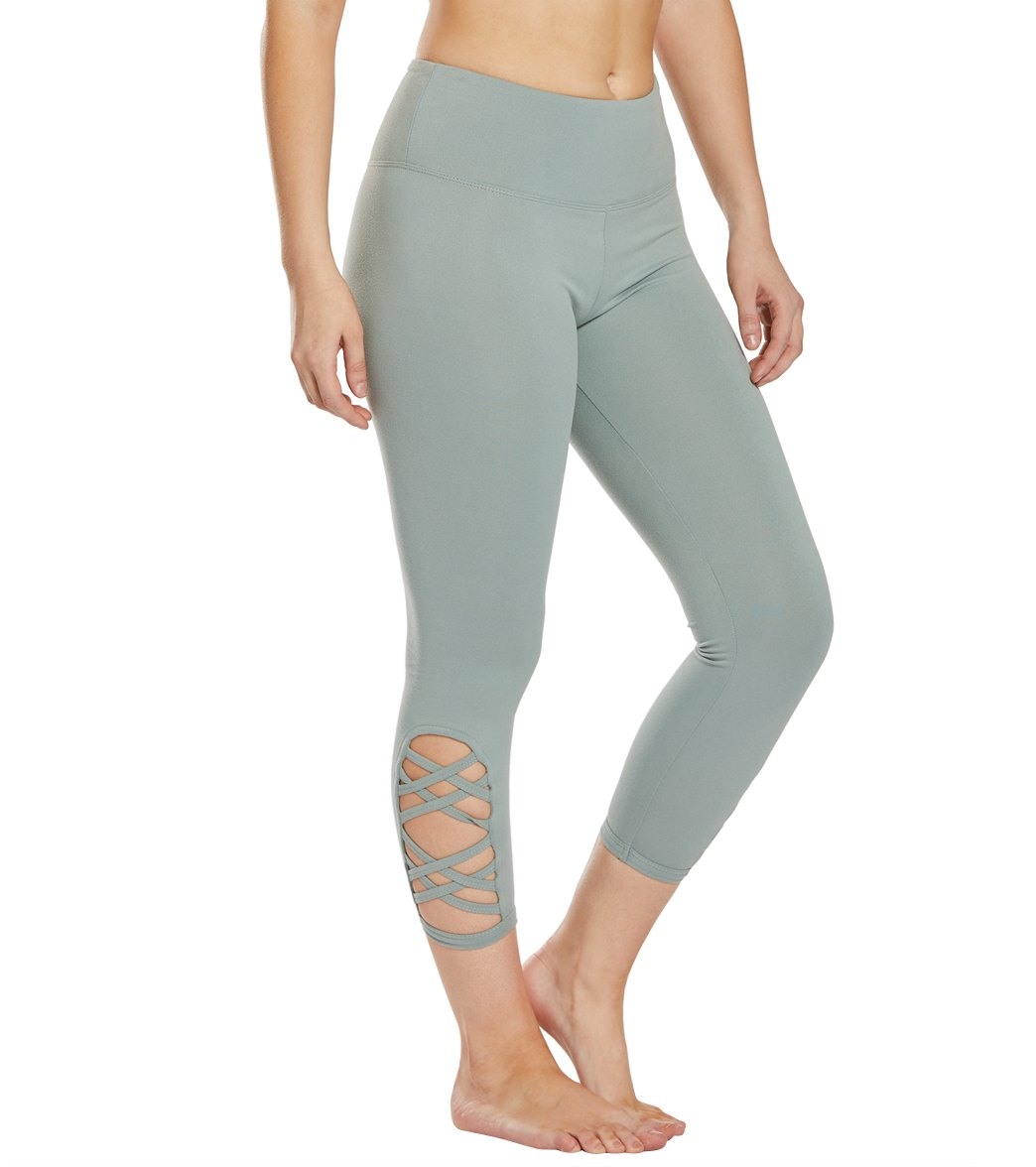 Balance Collection Riley Yoga Capri Pants - Slate Grey Cotton