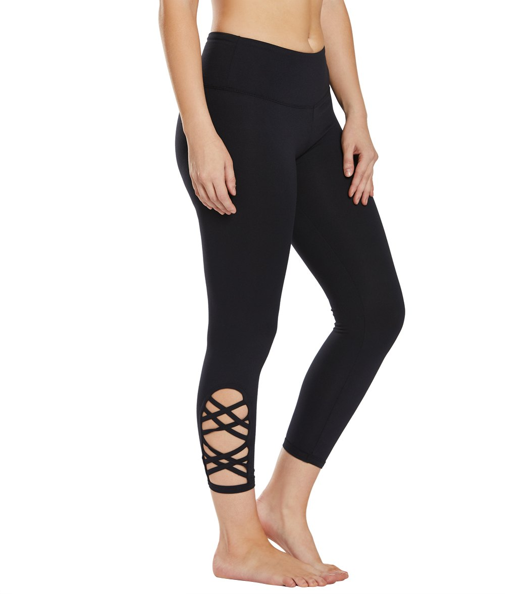 Balance Collection Riley Yoga Capri Pants - Black Cotton