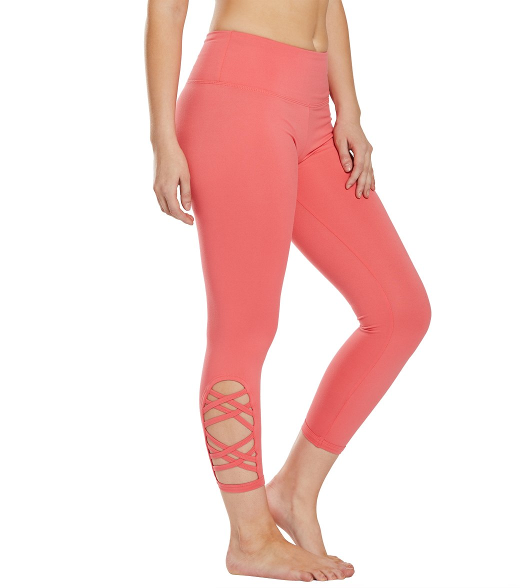 Balance Collection Riley Yoga Capri Pants - Rose Of Sharon Cotton