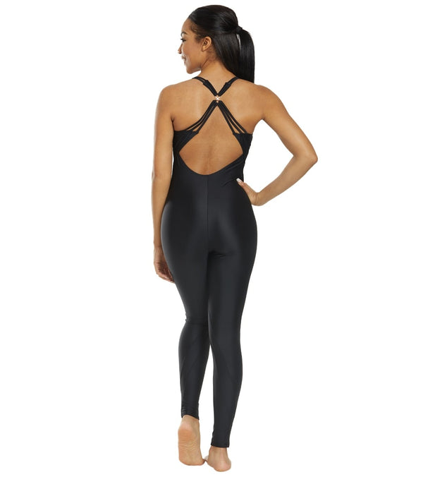 Danskin x Jenna Dewan Yoga and Dance Strappy Tank Mesh Unitard