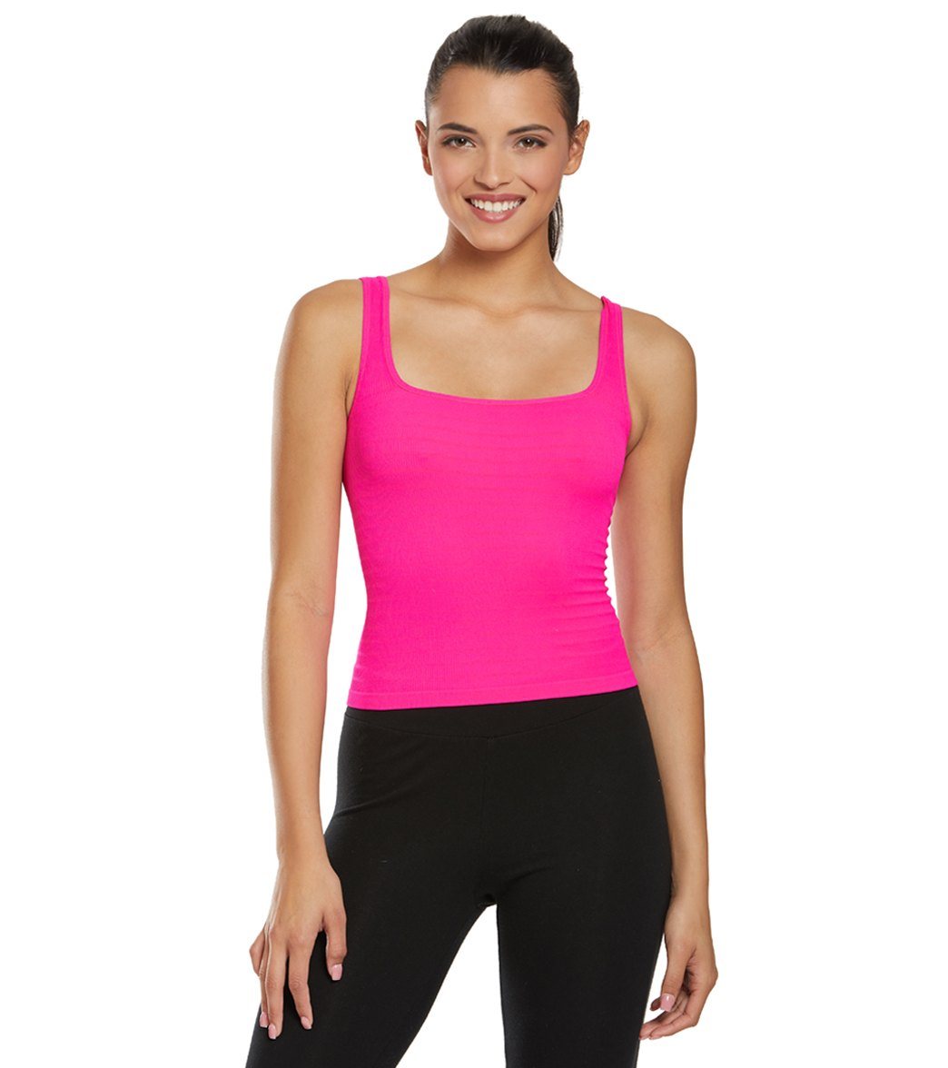 2939afc211edd Free People Square One Seamless Cami at YogaOutlet.com